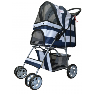 Furmom's Fab Blue Pet Stroller w/ Anti-Stain Oxford Fabric