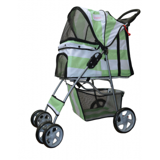 Furmom's Fab Green Pet Stroller w/ Anti-Stain Oxford Fabric