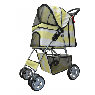 Furmom's Fab Yellow Pet Stroller w/ Anti-Stain Oxford Fabric