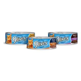 9 Lives Assorted Canned Wet Cat Food 156g