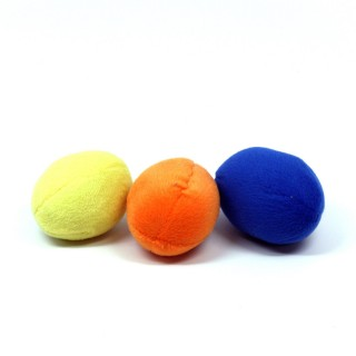 Plush Puppies Squeakin Eggs 3pcs Multicolored Squeak Dog Toys