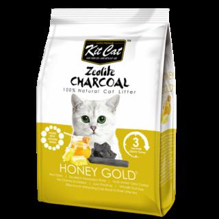 Kit Cat Zeolite Charcoal Honey Gold 4kg Premium Cat Litter