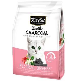 Kit Cat Zeolite Charcoal Floral Breeze 4kg Premium Cat Litter