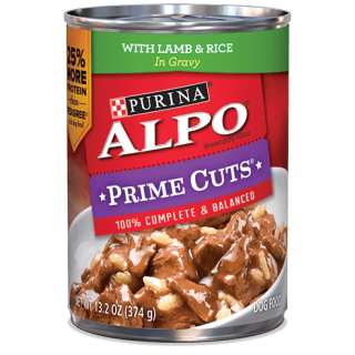 ALPO Prime Cuts Lamb & Rice 374g Wet Dog Food
