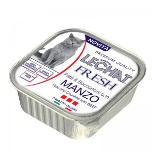 LeChat Fresh 100g Pate and Chunkies with BEEF Cat Wet Food