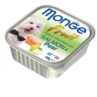 Monge Fruit Pate & Chunkies with Salmon & Pear 100g Dog Wet Food