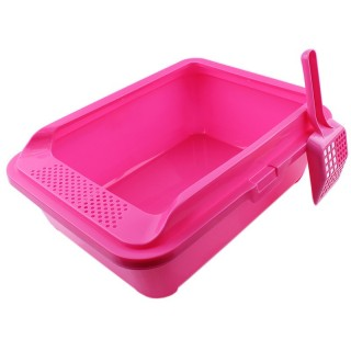 Cat Litter Pan Box Large with Litter Scoop