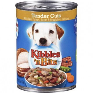 Kibbles 'n Bits Tender Cuts with Real Turkey, Bacon & Vegetables in Gravy 13.2oz Dog Wet Food