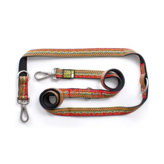 Max & Molly Ethnic Red Multi-Function Pet Leash