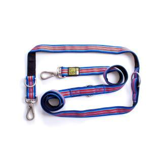 Max & Molly Hampton Blue Multi-Function Pet Leash