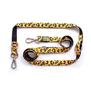Max & Molly Leopard Yellow Multi-Function Pet Leash