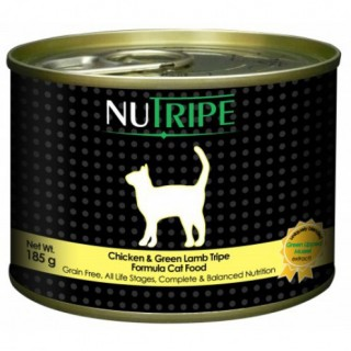 Nutripe Chicken & Green Lamb Tripe 185g Grainfree Cat Wet Food