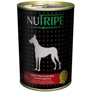 NuTripe Beef & Green Lamb Tripe 390g Grainfree Dog Wet Food