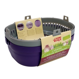 Living World SMALL Carrier for Small Pets - Purple/Gray