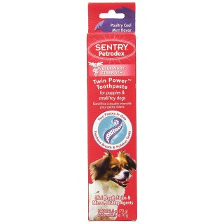 Sentry Petrodex Poultry Cool Mint Flavor 70g Puppy & Small/Toy Dog Toothpaste