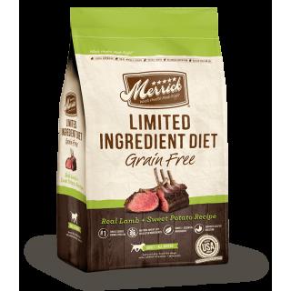 Merrick Grain Free Limited Ingredient Real Lamb + Sweet Potato Recipe 9.9kg Dog Dry Food