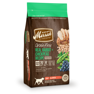 Merrick Grain Free Real Rabbit + Chickpeas Recipe 9.9kg Dog Dry Food