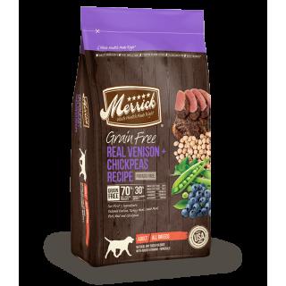 Merrick Grain Free Real Venison + Chickpeas Recipe 9.9kg Dog Dry Food
