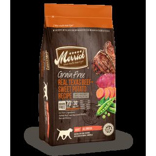 Merrick Grain Free Real Texas Beef + Sweet Potato Recipe 9.9kg Dog Dry Food