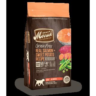 Merrick Grain Free Real Salmon + Sweet Potato Recipe 11.25kg Dog Dry Food