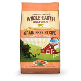 Whole Earth Farms Grain Free Recipe with Real Salmon 4.5kg Cat Dry Food