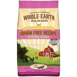 Whole Earth Farms Grain Free Healthy Kitten 4.5kg Cat Dry Food