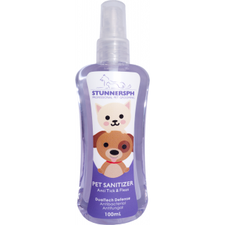 Stunners PH Anti Tick & Flea with Neem Extract 100ml Pet Sanitizer