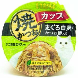 Inaba Yaki Katsuo Cup Tuna (Maguro) in Gravy Topping Sliced Bonito 80g Cat Wet Food