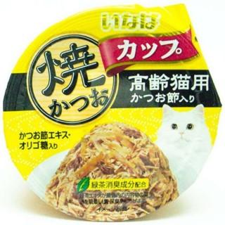 Inaba Yaki Katsuo Cup Tuna in Gravy Topping Sliced Bonito 80g Cat Wet Food