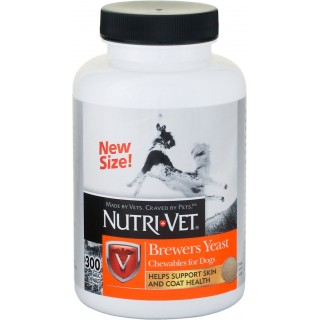 Nutri-Vet Brewers Yeast 300 Garlic Chewables Dog Supplement