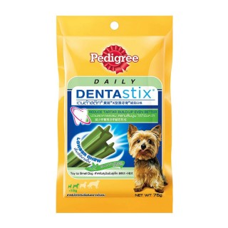 Pedigree Daily Dentastix Green Tea 75g Dog Dental Treats (Toy to Small Size)