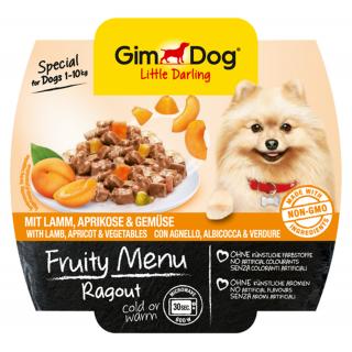 GimDog Fruity Menu Ragout with Lamb, Apricot & Vegetables 100g Dog Wet Food