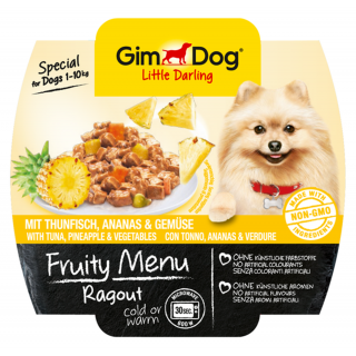 GimDog Fruity Menu Ragout with Tuna, Pineapple & Vegetables 100g Dog Wet Food