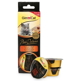 GimCat Pâté Deluxe with Poultry 3 x 21g Cat Treats