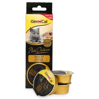 GimCat Pâté Deluxe with Veal 3 x 21g Cat Treats