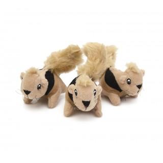 Plush Puppies Squeakin Squirrels 3pcs Dog Toys