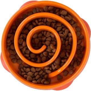 Kyjen Dog Games Slo-Bowl - Coral Orange