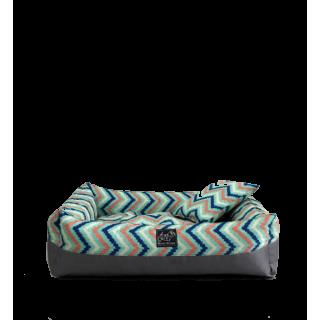 Bow House Snorebox Pastel Chevron Pet Bed