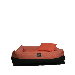 Bow House Snorebox Salmon Stripes Pet Bed