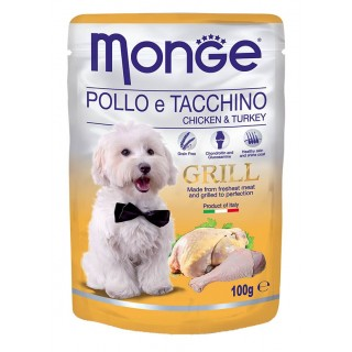 Monge Grill Chicken & Turkey 100g Dog Wet Food