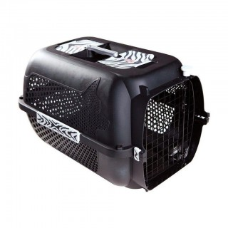 Dogit Voyageur BLACK TIGER LARGE (24.3x16.7x14.5in) Pet Carrier