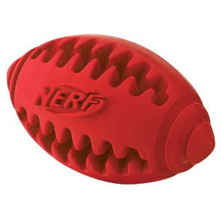 Nerf Dog Teether Football Red Small 3.5 inches Dog Toy