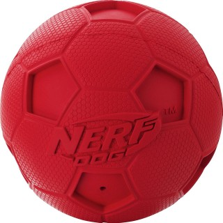 Nerf Dog Soccer Squeak Ball RED SMALL 2.5 inches Dog Toy
