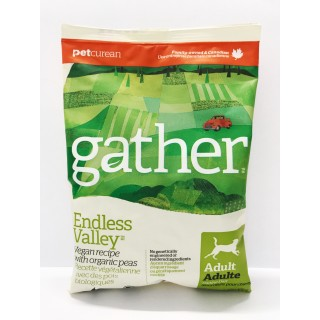 Sample Pack - Gather Endless Valley Vegan Recipe with Organic Peas 100g Adult Dog Dry Food