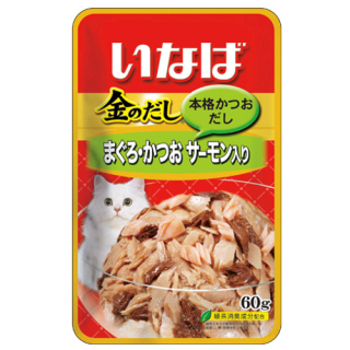 Inaba Jelly Tuna with Salmon 60g Cat Wet Food TIC23