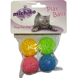 Michiko Glitter Balls Cat Toy