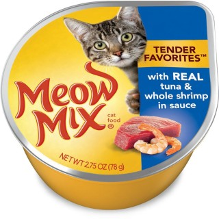Meow Mix Tender Favorites with Real Tuna & Whole Shrimp 78g Cat Wet Food