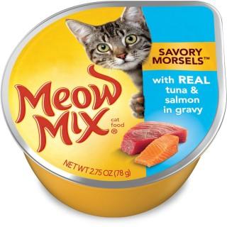 Meow Mix Market Select Real Tuna & Salmon 78g Wet Cat Food