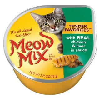 Meow Mix Tender Favorites with Real Chicken & Liver 78g Cat Wet Food
