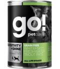 Go! Sensitivity + Shine Whitefish + Freshwater Trout Pate 374g Dog Wet Food